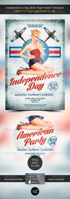 Independence Day Retro Flyer Template — Photoshop PSD #flag #soldiers • Available here → https://graphicriver.net/item/independence-day-retro-flyer-template/7958654?ref=pxcr