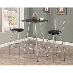 @Overstock - This metal and polyurethane swivel barstool set comes with a contemporary black and silver finish. Suited to blend with any home decor, the set comes with foam padded seats for added comfort and they swivel a full 360 degrees for some extra fun. http://www.overstock.com/Home-Garden/Silver-Metal-29-inch-Swivel-Barstool-Set-of-2/6384039/product.html?CID=214117 $97.99