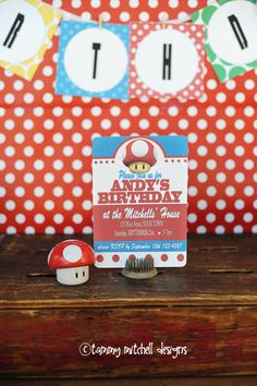 Super Mario invitation.