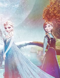 Queen Elsa and Princess Anna - Disney's Frozen