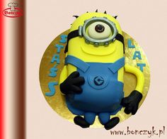 #Minions, #Minionki, #żółty, #cake, #tort, www.bonczyk.pl