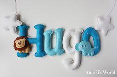 Nombre fieltro animales para Hugo - Anuski´s World