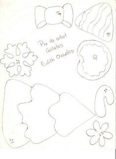 Pie de arbol galletas