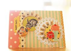Tip: put your letter stickers in a semicircle around an embellishment