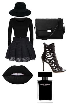 """""""MYSTERY GIRL ????"""" by stylebylexie13 ❤ liked on Polyvore featuring beauty, Aspinal of London, Maison Michel, Lime Crime and Narciso Rodriguez"""