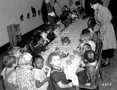 In this photo from children celebrate Thanksgiving at the Works Progress Administration nursery school at the Hallie Q. Brown Center in St.