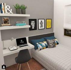 33 Best Teenage Boy Room Decor Ideas and Designs for 2018 - Boy Bedroom Design - Home Lilla Bedroom Desk, Small Room Bedroom, Trendy Bedroom, Bedroom Storage, Kids Bedroom, Bedroom Furniture, Master Bedroom, Furniture Ideas, Bedroom Colors