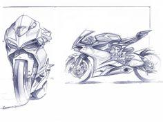 Design Sketches That The Brought Ducati 1199 To Life Ducati 1199 Design Sketch Pencil Black and White by Ducati Designer Gianandrea Fabbro Bike Sketch, Car Sketch, Motos Yamaha, Honda Motorcycles, Vintage Motorcycles, Ducati 1199 Panigale, Bike Drawing, Motorbike Design, Art Diy