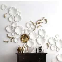 Lotus Leaves Wall Decor set in White ( + more colors)