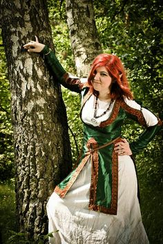 Fantasy elven gown and tunic with open sleeves by GudrunArt, zł300.00  see their online store here:  https://www.etsy.com/shop/GudrunArt?ref=seller_info