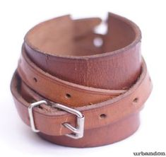 Leather Cuffs using old leather belts - Tutorial