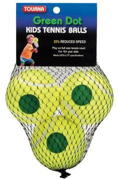 Tourna Green Dot Tennis Balls (3-Pack), 2015 Amazon Top Rated Tennis #Sports