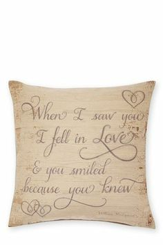 Buy Romance Script Tapestry Cushion from the Next UK online shop Cute Cushions, Large Cushions, Large Sofa, Scatter Cushions, Cushions On Sofa, Pillows, House Tweaking, Smile Because, Next At Home