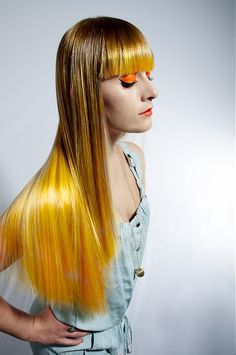ombre yellow hair~  (LOVE IT!)