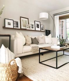 Beige Living Rooms, New Living Room, Home And Living, Living Room With Mirror, Living Room Decor Simple, Living Room Decorating Ideas, Small Couches Living Room, Living Room Inspiration, Apartment Living