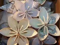 20 Victorian Origami Kusudama Loose Flower by GracelinePaperStudio, $38.00