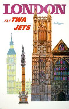 FLY TWA - LONDON JETS  by  DAVID KLEIN