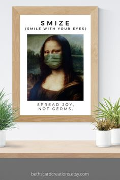 This unique face mask sign will remind everyone to spread joy, not germs. #facemask #joy Different Seasons, Seasons Of The Year, School Decorations, Room Decorations, Smile With Your Eyes, Cubicle, Cool Things To Make, Dorm Room, Back To School