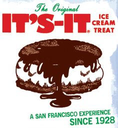 "The best ice cream sandwich I have ever had! San Francisco's ""It's-It! Ice Cream Treats, Ice Cream Desserts, Best Ice Cream, Vanilla Ice Cream, Suisun City, Recipe Icon, Sandwich Cookies, Thats The Way, Oatmeal Cookies"