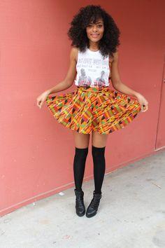 Custom Made African Kente Cloth Skirt Bottoms von SupaRichNasty, $49.95