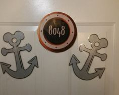 Set of 2 Mickey Ear Anchors for your Stateroom Door Decoration Disney Cruise Decor