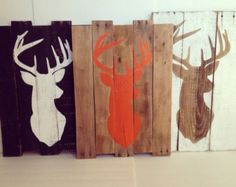 Deer Head Silhouette Pallet Wood Sign