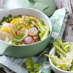 Recettes en famille | Régal Pasta Salad, Cobb Salad, Risotto, Potato Salad, Casserole, Potatoes, Ethnic Recipes, Food, Pizza