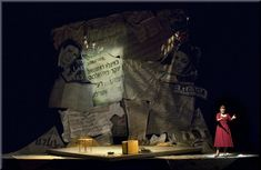 LOVE THIS! Yiddish Theatre piece by Naava Piatka, Better Don't Talk, with scenery design by Richard Finkelstein