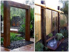 fontaines en cascade modernes en tant que décoration de jardin originale