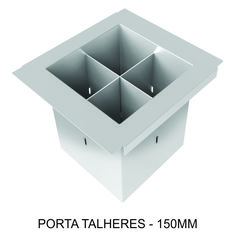 PORTA TALHERES - 150mm Com suas divisões, possibilita de ser levado inclusive a mesa.