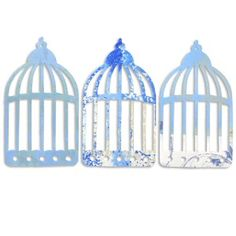 Bird Cages Blue Mixed