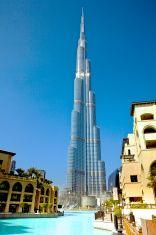 Burj Khalifa - The world's tallest building. stock photo