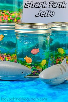 Celebrate Shark Week with this fun Shark Tank Jello! Your kids can have all kinds of fun with these fun treats. Perfect for a pool party, shark theme or