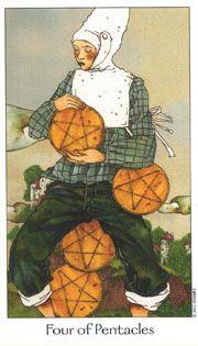 4 of Pentacles - Dreaming Way Tarot - rozamira tarot - Picasa Web Albums