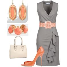 """Coral"" by gossparker on Polyvore"