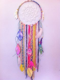 #neon #dreamcatcher by rachael rice http://rachaelrice.com/art/custom-orders/