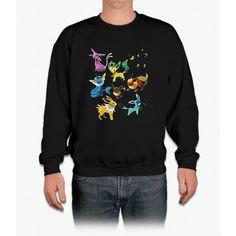 Poke Go Team Mystic Instinct Valor Eevee Shirt Crewneck Sweatshirt