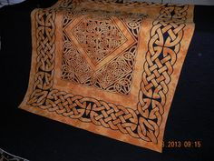 Celtic Knots, quilted, off the frame, trimmed