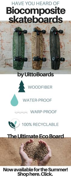 The Biocomposite Skateboards are here! They are ecological woodfiber, water-proof, recyclable. And they are now available for the Summer. Order yours now, click the picture! Skateboarding Photography, Living Quotes, Lifestyle Quotes, Greatest Adventure, Skateboards, Simple Living, Van Life, Ecology, The 100