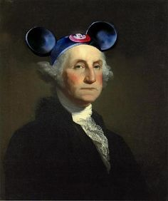 @Joseph Vernuccio LOL  Mouseketeer Washington Fine Art Print by BeatUpCreations