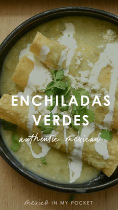 This authentic Mexican recipe for vegetarian enchiladas uses Oaxacan cheese, jalapeños, and fresh cilantro. Enchiladas verde are made with tasty green salsa popular in Mexican cuisine. #enchiladasverde #vegetarianenchiladas #mexicanrecipe #mexicanfood