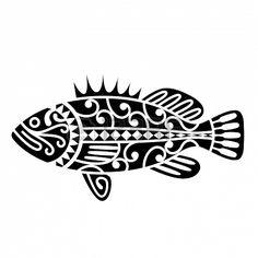 Illustration of A fish inspired by Maori tribal tattoos vector art, clipart and stock vectors. Arte Tribal, Tribal Art, Maori Designs, Tattoo Designs, Tribal Tattoos, Fish Tattoos, Trout Tattoo, Maori Tattoos, Haida Kunst