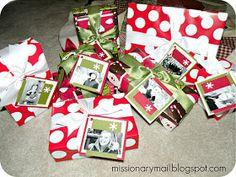 Missionary Mail: Christmas Idea #6 Christmas Mail, 12 Days Of Christmas, Christmas Crafts, Christmas Ideas, Christmas Stuff, Missionary Countdown, Missionary Gifts, Lds Missionaries, Missionary Pictures
