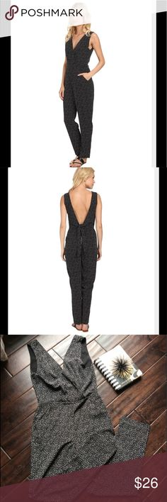 """Sam Edelman jumpsuit Have an actively fabulous day in this pattern Sam Eldermen jumpsuit. Sleeveless, one piece jumpsuit has a fitted waist and tapered legs. V neckline and deep v-backline. Slant hand pockets; back zip closure boasts a decorative tie!  57"""" long Sam Edelman Other"""