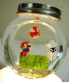 Aquário de geek ao invés de peixe tem Super Mario! | ROCK N' TECH