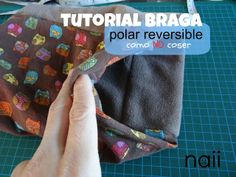 braga polar, buff, free pattern and tutorial Sewing Hacks, Sewing Projects, Brother 1034d, Costura Diy, Crafts For Kids, Diy Crafts, Sewing Techniques, Handmade Bags, Couture