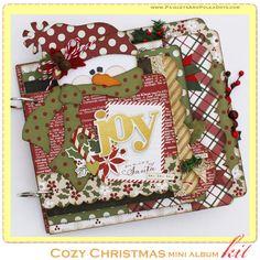 Cozy Christmas mini album from www.paisleysandpolkadots.com #cozychristmas…