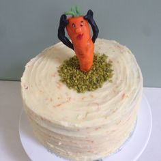 """""""The one who got away"""" carrot cake - 4 layers of moist carrot cake with ground hazelnuts and a orange and cream cheese icing"""
