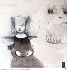 Ryan Price Ryan Price, Collage Drawing, Through The Looking Glass, Portrait Art, Portraits, Face Art, Beautiful Artwork, Traditional Art, Creative Inspiration