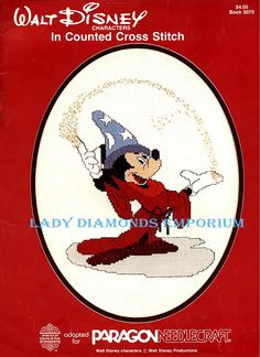 Walt Disney Characters In Counted Cross Stitch Patterns Snow